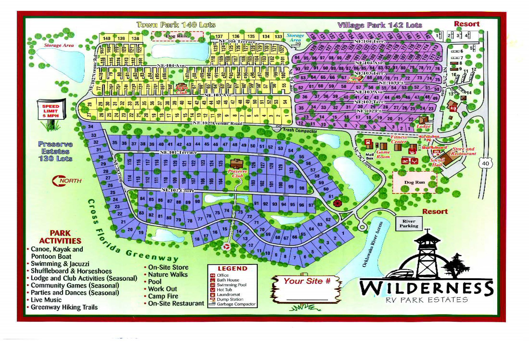 Widlerness RV Resorts At Silver Springs